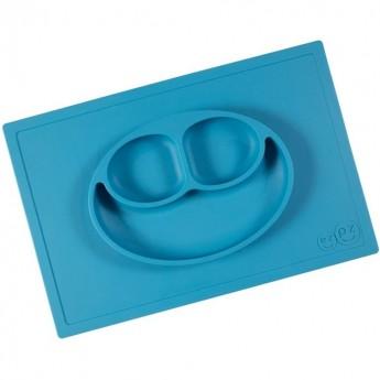 Happy Mat niebieski silikonowy talerz 2w1, EZPZ