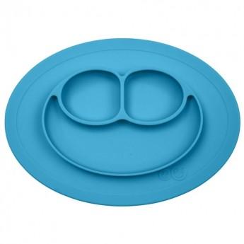 Mini Mat niebieski silikonowy talerzyk 2w1, EZPZ
