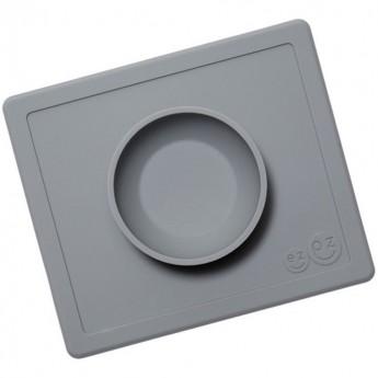 Happy Bowl szara silikonowa miseczka 2w1, EZPZ