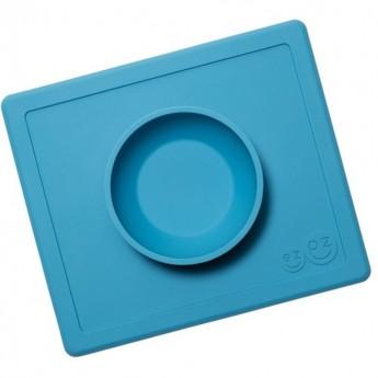 Happy Bowl niebieska silikonowa miseczka 2w1, EZPZ