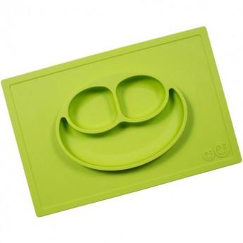 EZPZ Happy Mat zielony silikonowy talerz 2w1