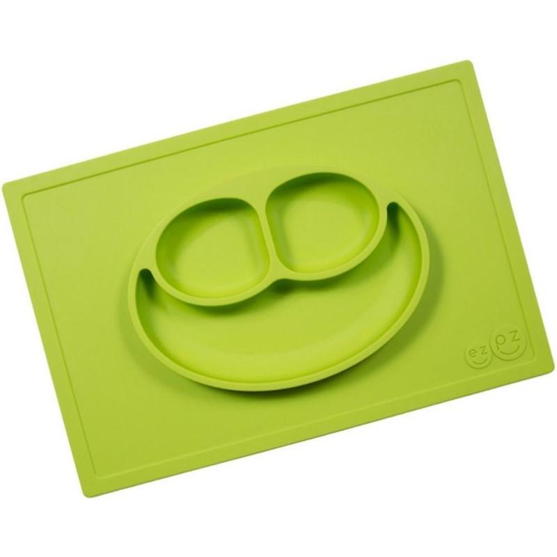 Happy Mat zielony silikonowy talerz 2w1, EZPZ