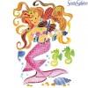 Syreny 4 obrazy do malowania i farby Aquarellum Junior, SentoSphere