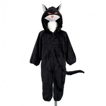 Czarny kot przebranie dla dzieci kombinezon rozmiar 2 lat, Souza!