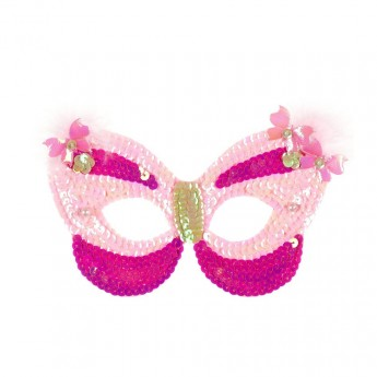 Maska wenecka Motylek różowa, Souza For Kids