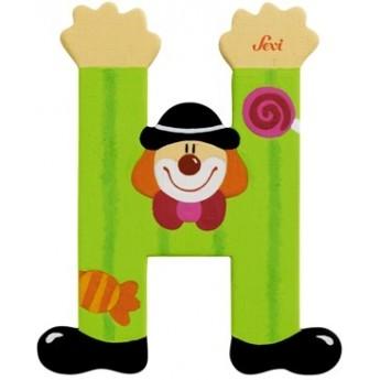 "Litera ""H"" z klaunem"