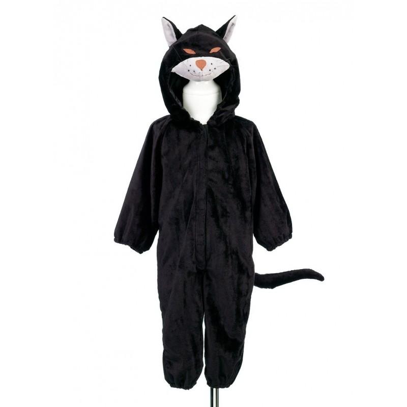 Czarny kot przebranie dla dzieci kombinezon rozmiar 3-4 lata, Souza!
