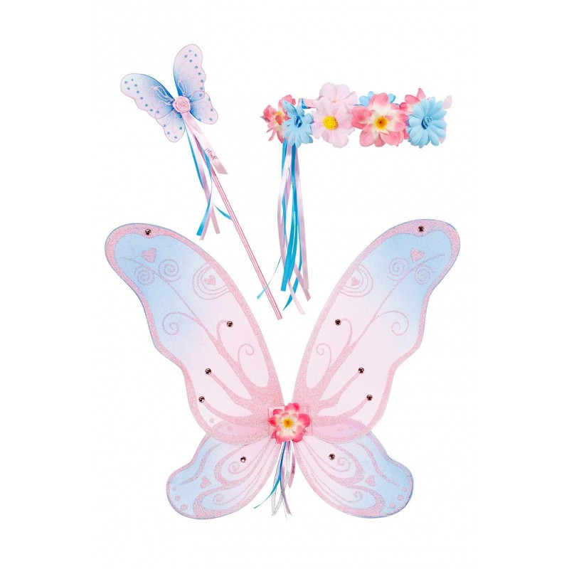 Skrzydła 49cm, korona i różdżka Nathalee, Souza For Kids