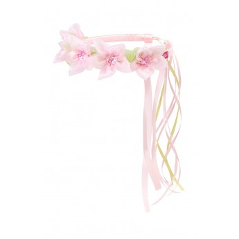 Korona kwiatów Evaline różowa, Souza For Kids