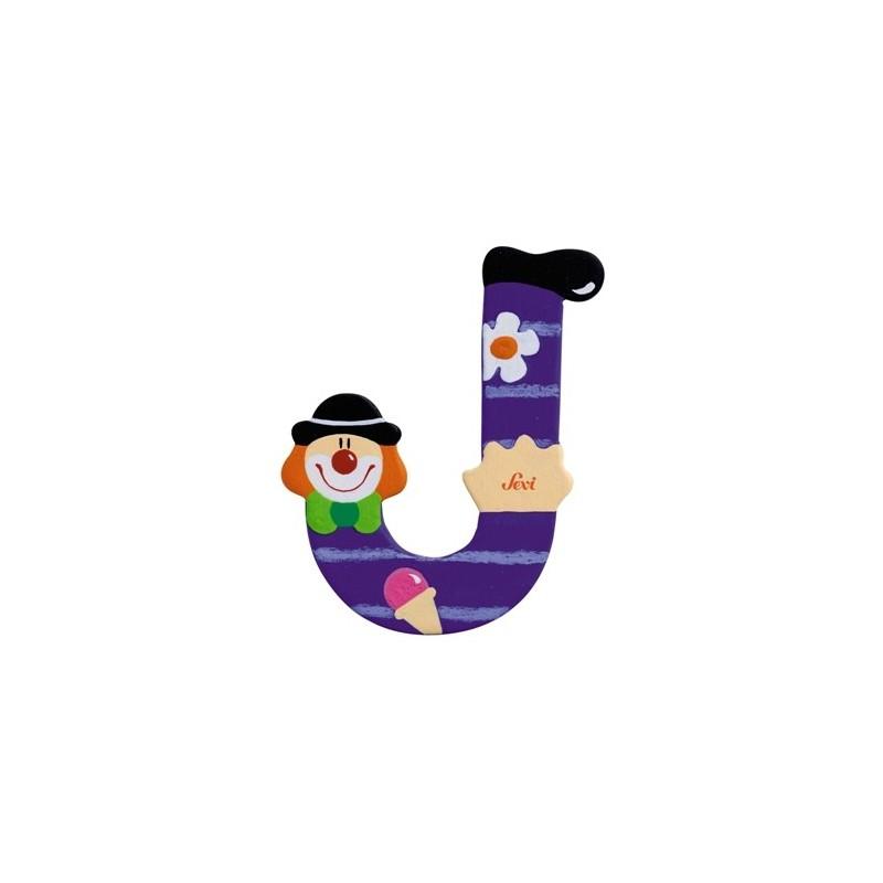 """Litera """"J"""" z klaunem"""