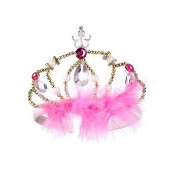Plastikowa korona królowej Murielle złoto-różowa, Souza!