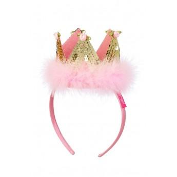 Opaska korona Felicia różowo-złota dla dziewczynki, Souza!