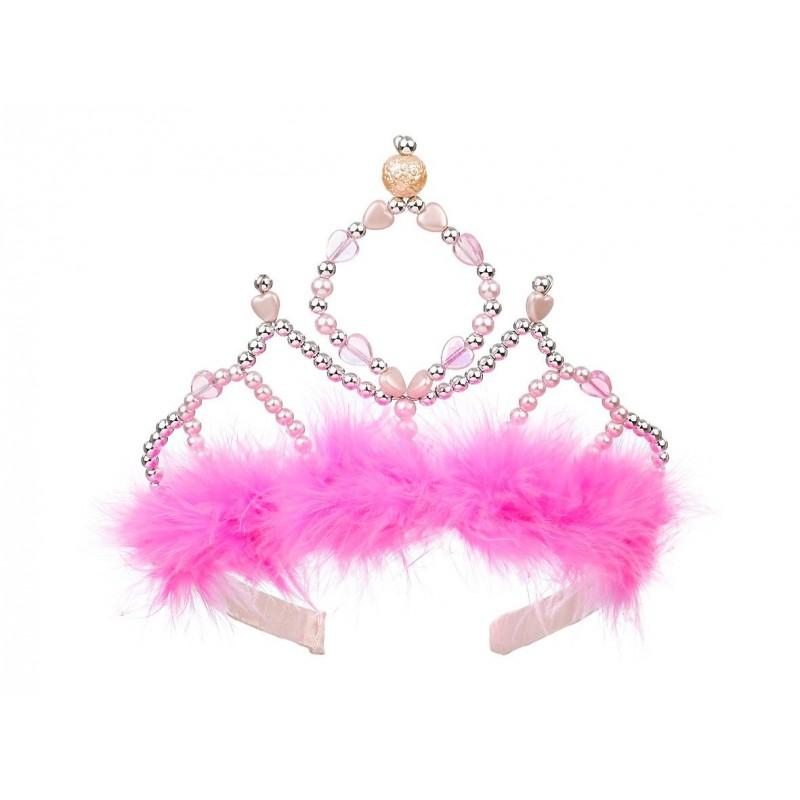 Plastikowa korona królowej Beatrice różowa, Souza!