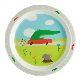 Talerz z melaminy Pojazdy Arty Frog, Petit Jour