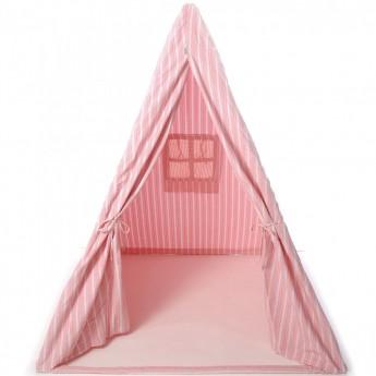 Wigwam namiot różowy w paski, WinGreen