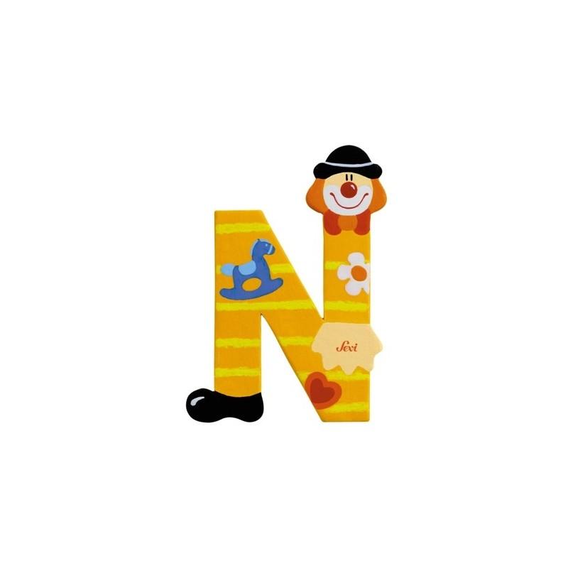 "Litera ""N"" z klaunem"