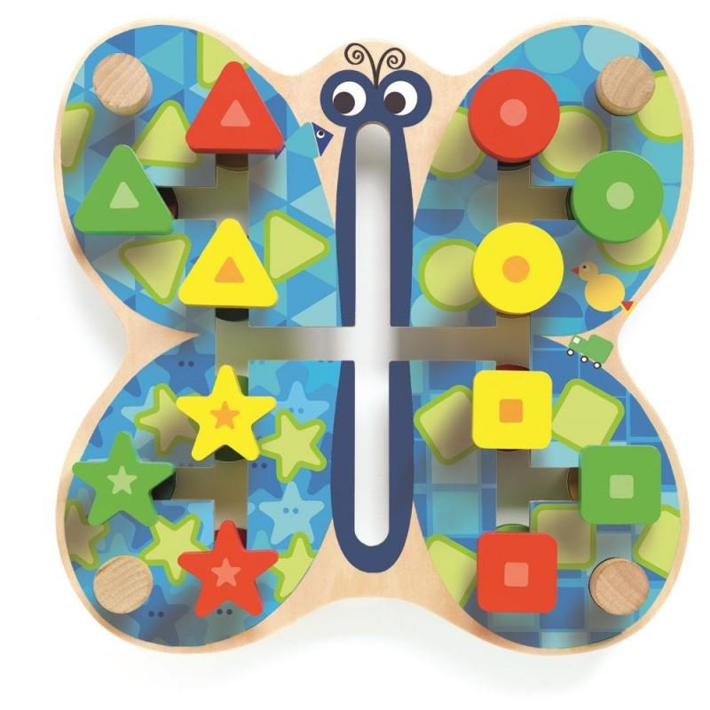 Motylek Labyfly sorter kształtów i kolorów, Djeco