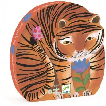 Tygrys puzzle 24 elementy, Djeco