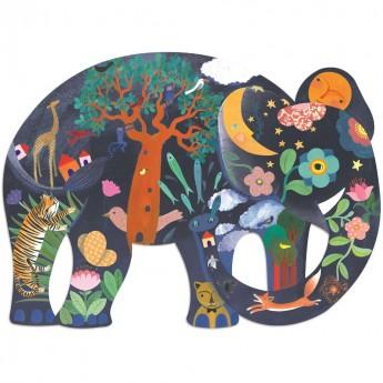 Słoń puzzle 150 elementów, Djeco