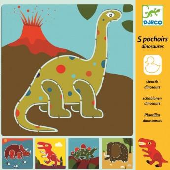 Dinozaury szablony do rysowania, Djeco