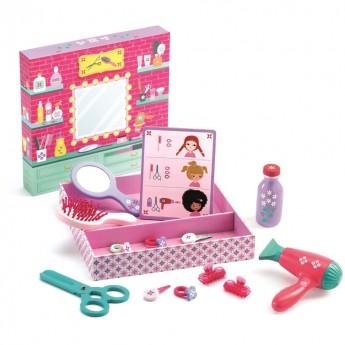 Betty & Bella zestaw fryzjerski dla lalek, Djeco