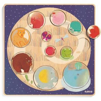 Ludi & Co edukacyjna układanka do nauki kolorów, Djeco