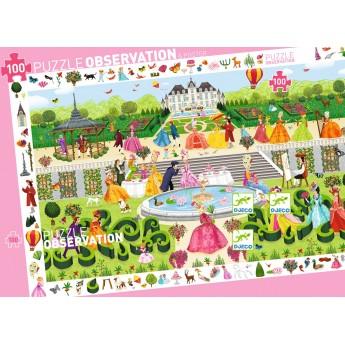 Garden Party puzzle 100 elementów, Djeco