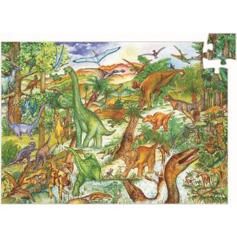 Dinozaury puzzle 100 elementów, Djeco