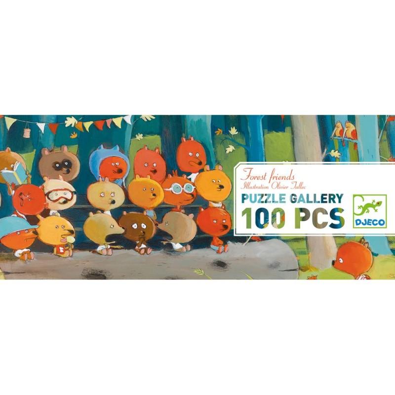 Leśni przyjaciele Puzzle Gallery 100 elementów, Djeco