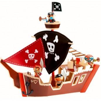 Statek Piracki drewniany - Arty Toys, Djeco