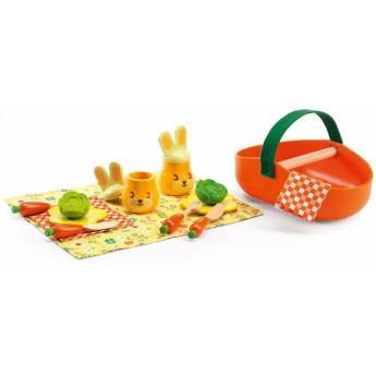 Djeco Piknikowy zestaw Jojo, zabawa w sklep i gotowanie