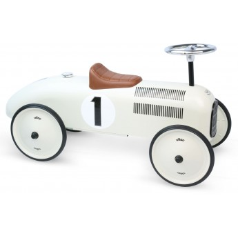Vilac jeździk biały dla dzieci od 18mc stylowy prezent na roczek