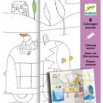Kolorowanki Niespodzianki -W podróży, Djeco