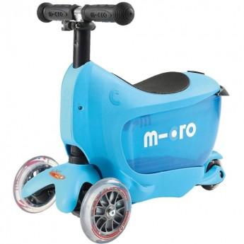 Mini2go niebieski 2w1 jeździk i hulajnoga z siedziskiem -na roczek