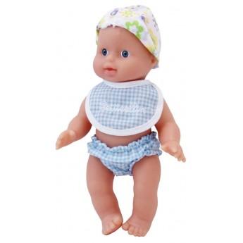 Lalka zabawka do kąpieli, strój niebieski, dla niemowląt od 10mc, Petitcollin