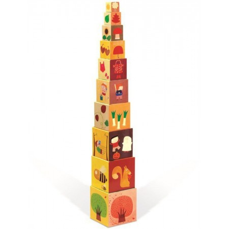 Piramida wieża 10 kostek Pory roku, Janod