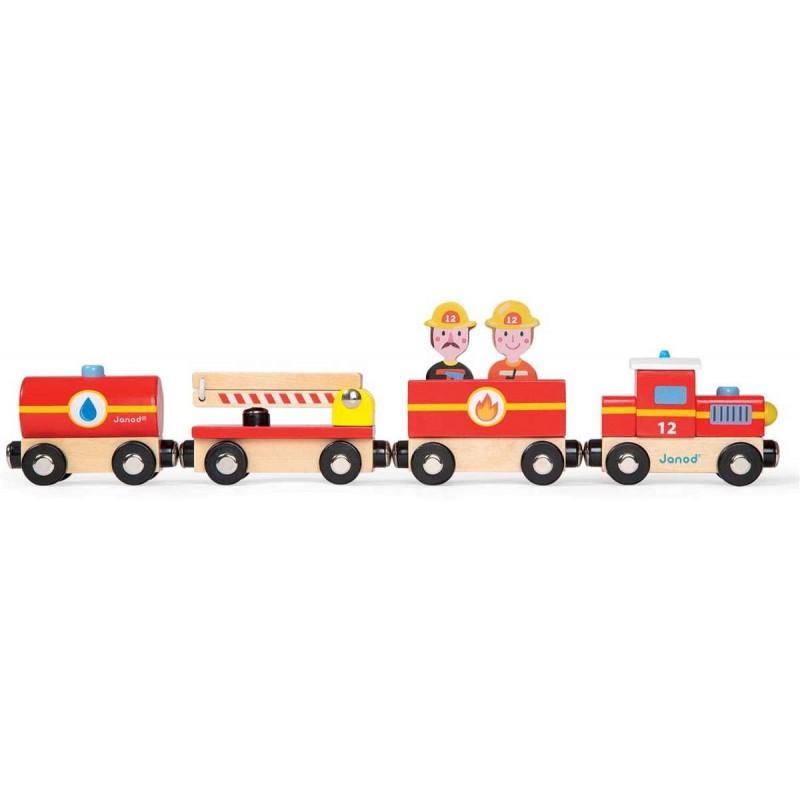 Straż pożarna pociąg drewniany, Janod