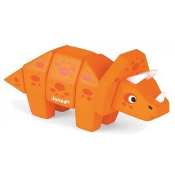 Triceratops drewniany do złożenia, Janod