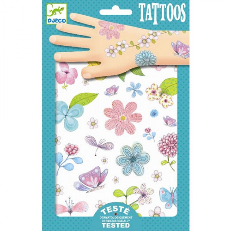 Kwiaty brokatowe tatuaże, Djeco