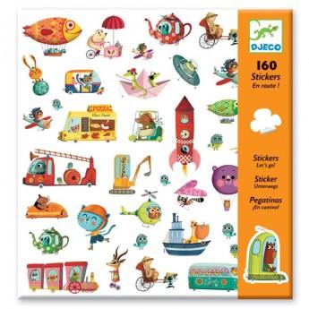 Djeco Naklejki Pojazdy zestaw 160szt dla dzieci +4 lat