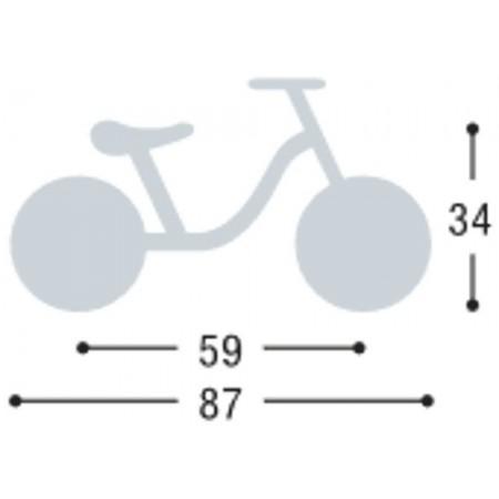 Rowerek biegowy LR 1L niebieski 3+ Piłka Nożna, Puky