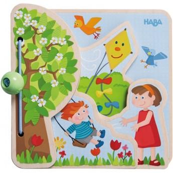 Książeczka drewniana dla niemowląt 4 Pory Roku, Haba