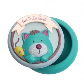 Ceramiczne pudełeczko na ząbek z kotkiem, Moulin Roty