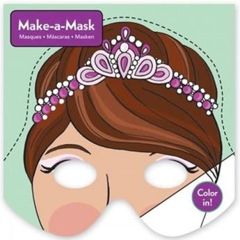 Kolorowanka maski do zrobienia Księżniczki, Mudpuppy