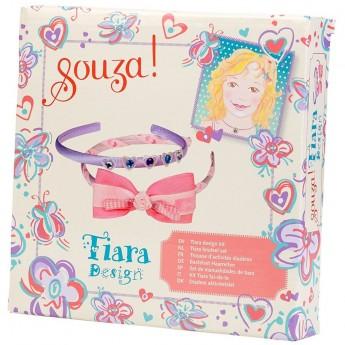 Zestaw do robienia opasek do włosów: różowa i liliowa, Souza for Kids