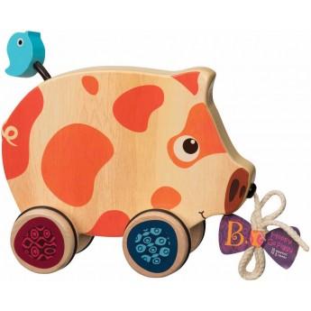 Świnka do ciągnięcia Happy Go Piggy, B.Toys