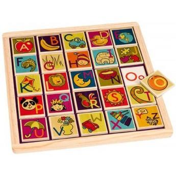Tablica magnetyczna z literkami Magnetic Alphabetic, B.Toys