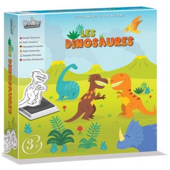 Dinozaury stempelki piankowe dla 3 latka, Crea Lign'