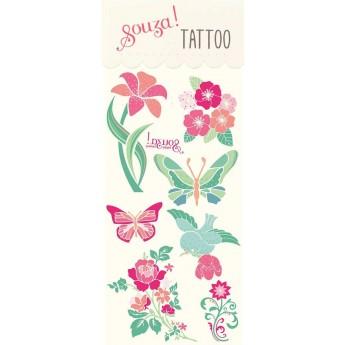 Tatuaże kwiaty zmywalne, prezent dla 4 latki, Souza for Kids