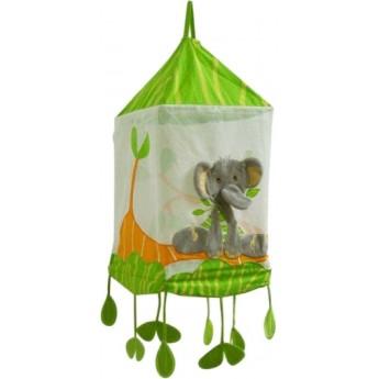 Lampa wisząca materiałowa dla dzieci Dżungla, Titoutam